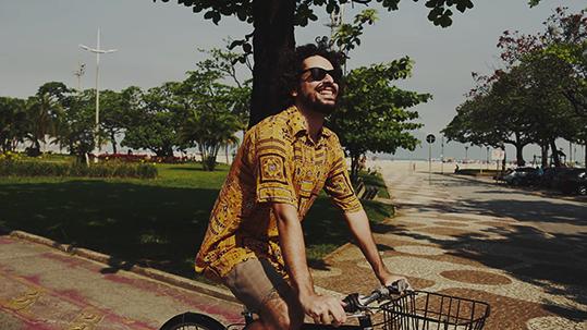 passeio de bicicleta na orla de Santos