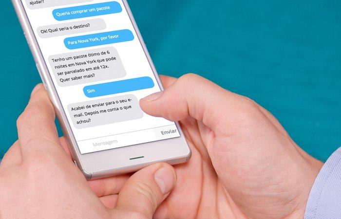 O que é chatbot: implementação de exemplo com pacote de turismo sendo vendido
